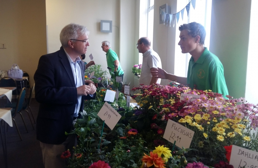 Mark Menzies at the Lytham In Bloom fund-raiser