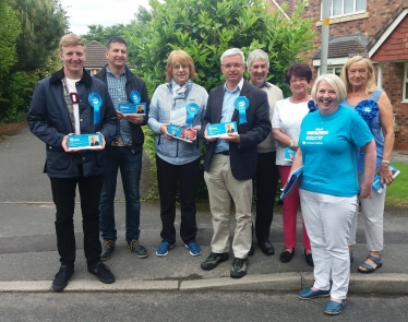 Mark Menzies and supporters in Cottam